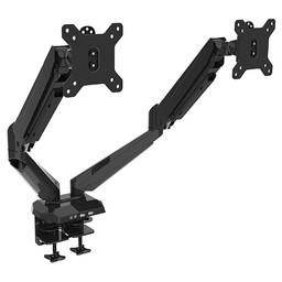 Vision Mounts VM GM224U Dubbele Monitorarm Met Gasveer Zwart
