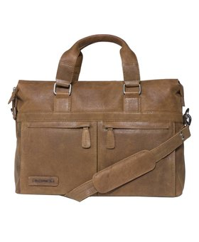 Plevier Plevier business/laptoptas leer 472-3 cognac