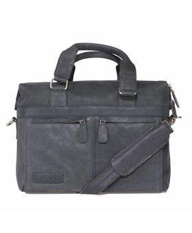 Plevier plevier business/laptoptas leer 471-1 zwart