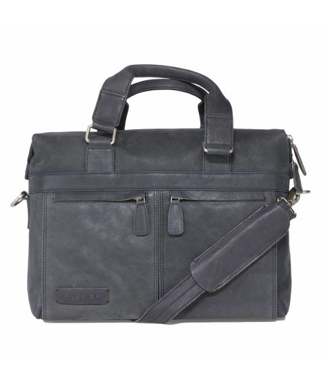 Plevier plevier business/laptoptas leer 471-1 zwart