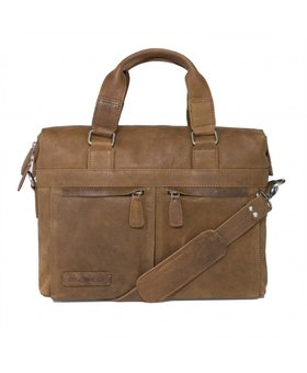 Plevier Plevier business/laptoptas leer 471-3 cognac