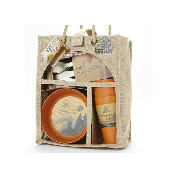 EcoSoulife SALE!!  Picknickset bamboe (4P)