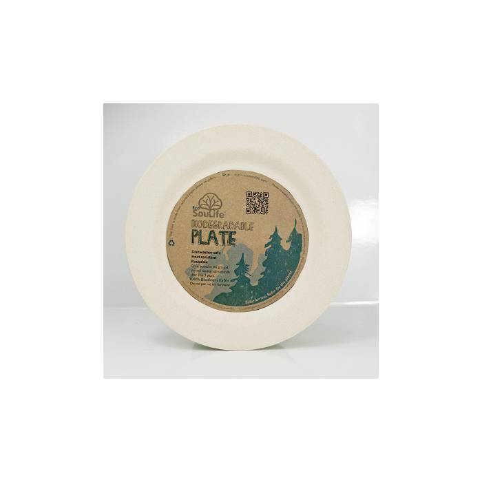 EcoSoulife SALE!! campingservies dinerbord bamboe Ø 22,5cm