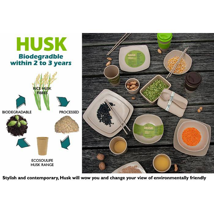 EcoSoulife SALE!! campingservies - Husk large square bowl