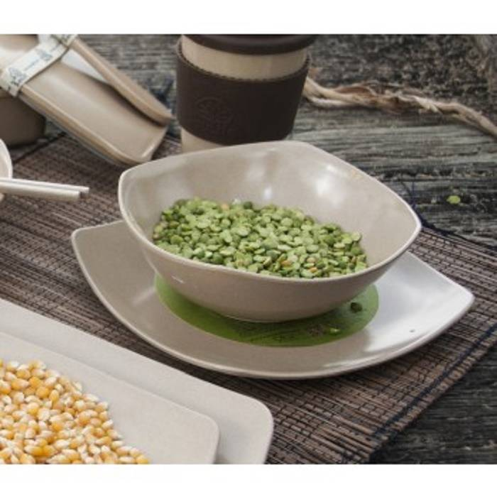 EcoSoulife SALE!! campingservies - husk small square plate