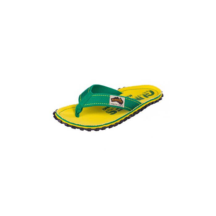 Gumbies teenslippers flip flop yellow eroded