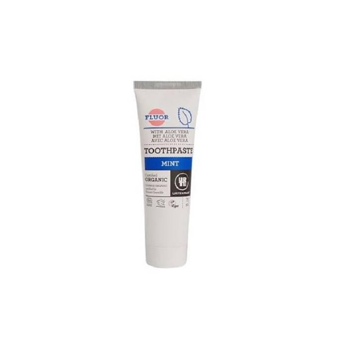 Urtekram natuurlijke tandpasta mint met fluor en Aloe Vera