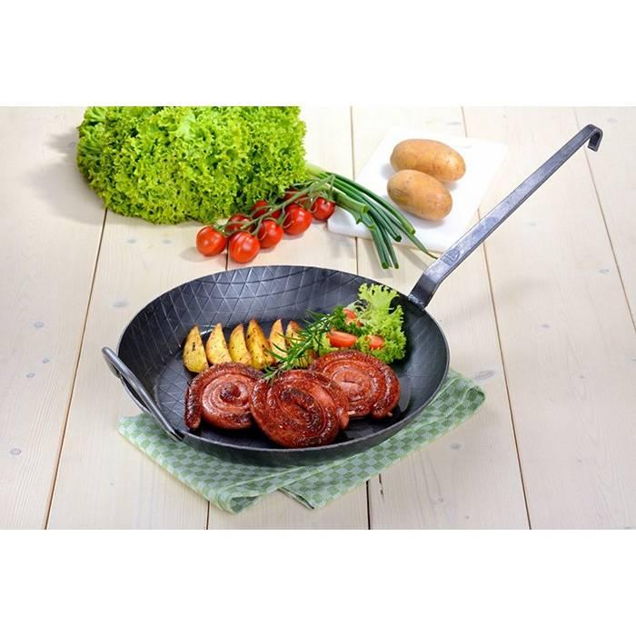 Graewe Smeedijzeren wokpan en koekenpan in 1 hoog