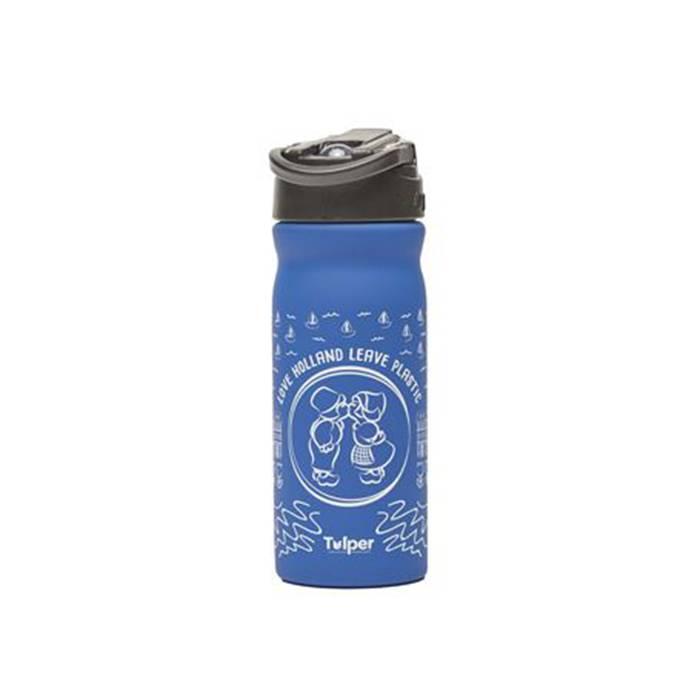 """Tulper RVS drinkfles """"Delfts Blauw Dutch Kiss"""""""