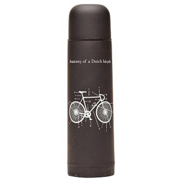 """Tulper Thermosfles zwart """"fiets"""" (500 ml)"""