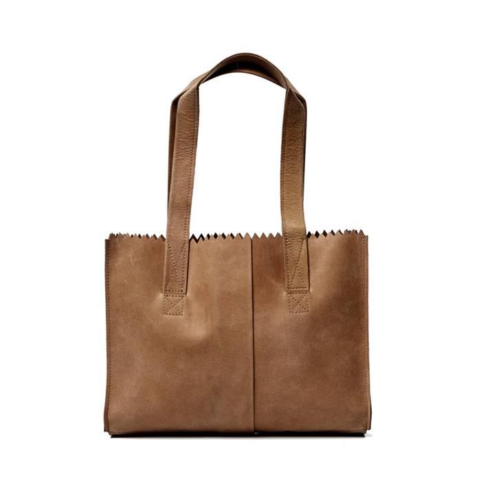 MYOMY My paper bag handbag met rits en binnenvakken