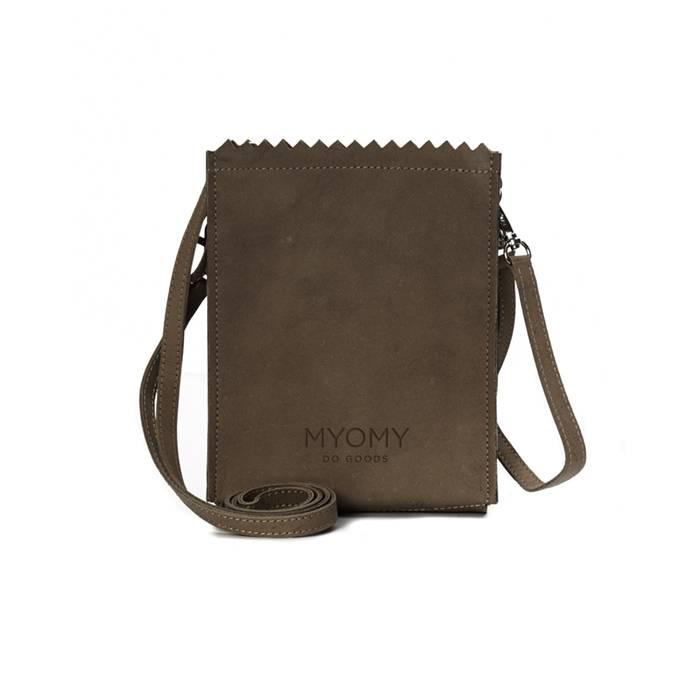 MYOMY My paper bag baggy met cross-body band en polsstrap