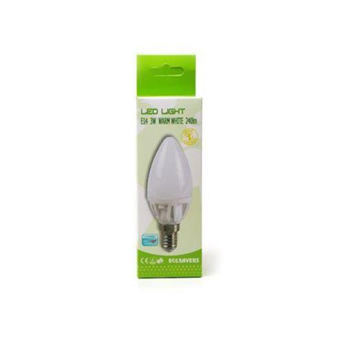 Ecosavers Eco ledlamp kaars E14 3W -dimbaar