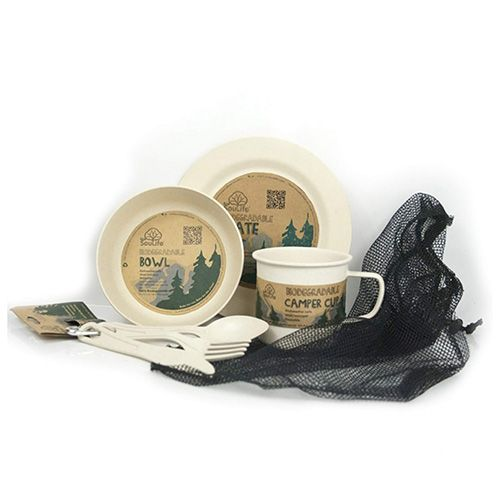 EcoSoulife SALE!! campingservies-Camperset 1p