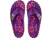 Gumbies teenslippers Purple Hibiscus
