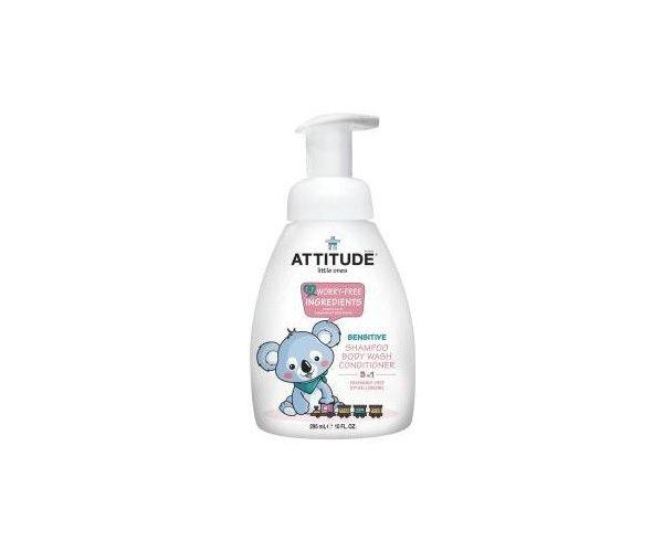 Attitude Living Little ones- 3 in 1 babyshampoo, bodywash en conditioner