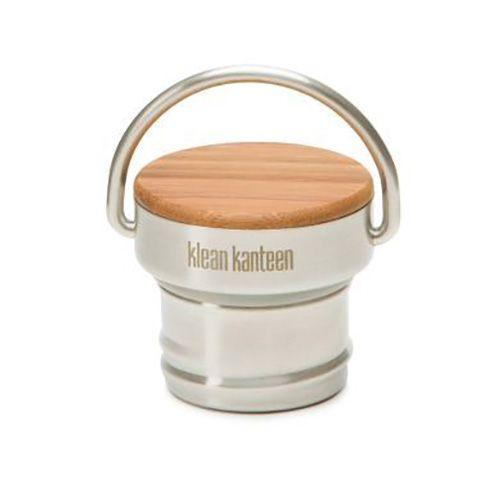 Klean Kanteen Classic drinkfles dop RVS en bamboe
