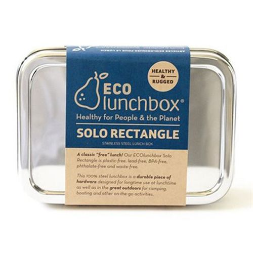 Eco lunchbox lunchbox Solo Rectangle RVS