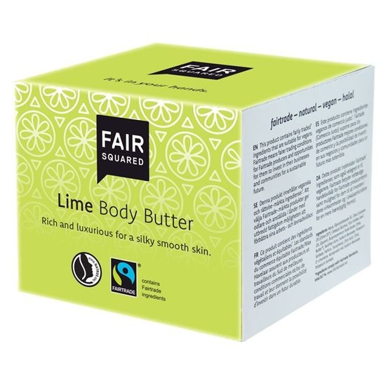 Fair Squared fairtrade body butter lime