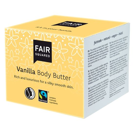Fair Squared fairtrade body butter vanilla