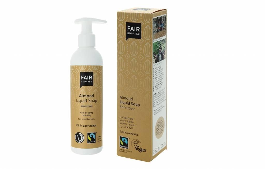 Fair Squared fairtrade vloeibare handzeep Sensitive Almond