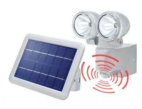 Esotec solar buitenlamp met sensor LED duo power II