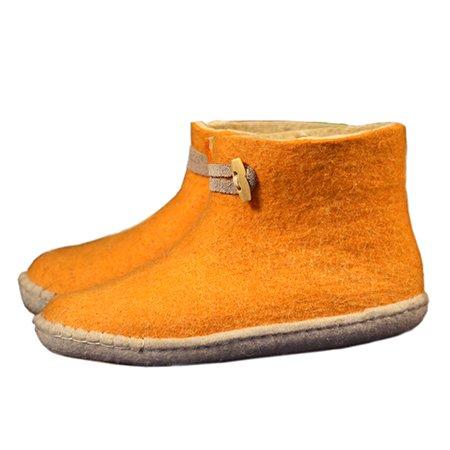 Esgii vilten damesslof High Boots geel