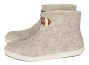 Esgii vilten damesslof High Boots Light Grey