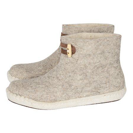 Esgii vilten damesslof High Boots Light Grey