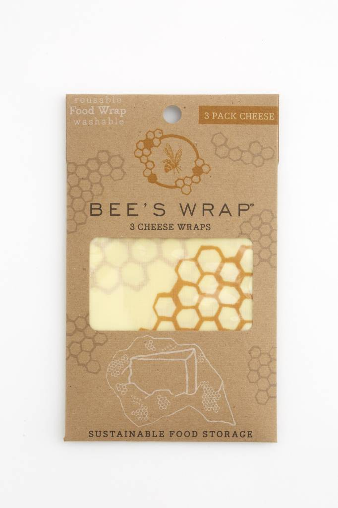 Bee's Wrap bijenwasdoek cheese wraps set van 3