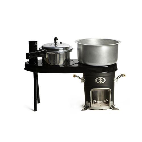 Envirofit dubbel kooktoestel voor Rocket Stove