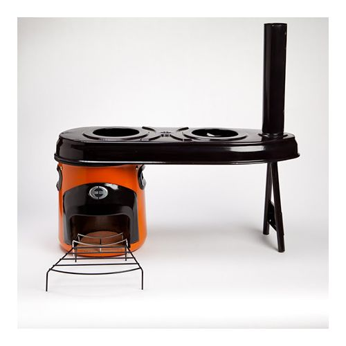Envirofit houtstoof G3300 + dubbel kooktoestel