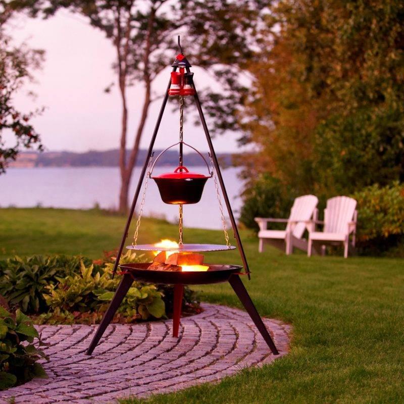 Bon-Fire driepoot BBQ met vuurschaal in set