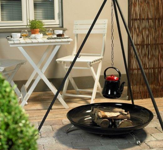 Bon-Fire driepoot set met grillrooster XL