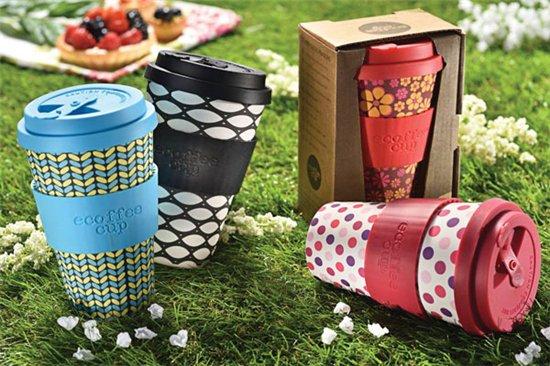 Ecoffee herbruikbare koffiebeker Marmo Verde 400 ml