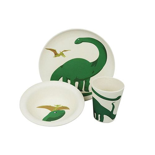 Zuperzozial kinderservies lunchset Dino 3-delig
