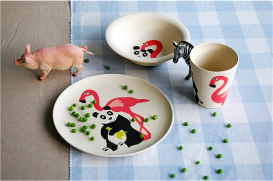 Zuperzozial Hungry Flamingo kinderservies 3-delig