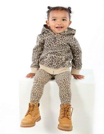 The Baby Closet Leopard jogging