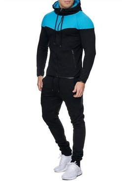 Trainingspak Zwart Turquoise (Maat M & L)
