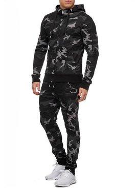 Camouflage Joggingpak Grijs Zwart