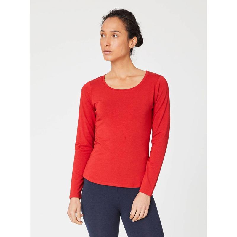 Basic Longsleeve in der Farbe Rot