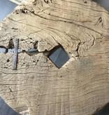 De Appelgaard Bijzettafel met stalen frame