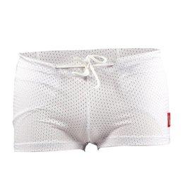 FS-01 Pantaloncini a compressione 3 tasche, bianco