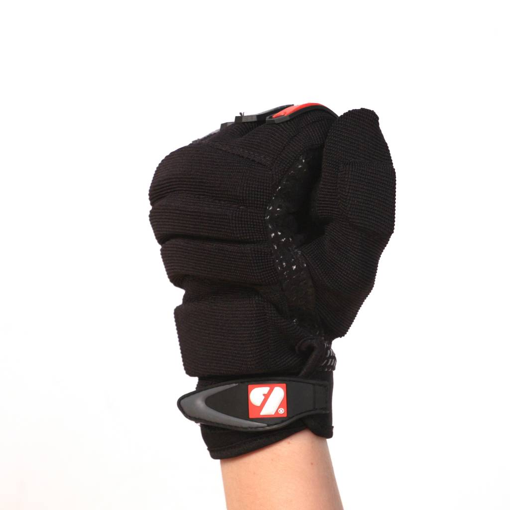 FLG-02 Guanti da football americano da lineman fit, nero