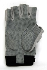 FLGC-02 guanti da football americano lineman, fit corto, grigio