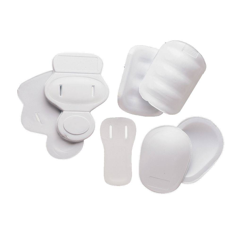 FKJ-01 Football kit protezione, 7 pezzi, junior, taglia unica, bianco