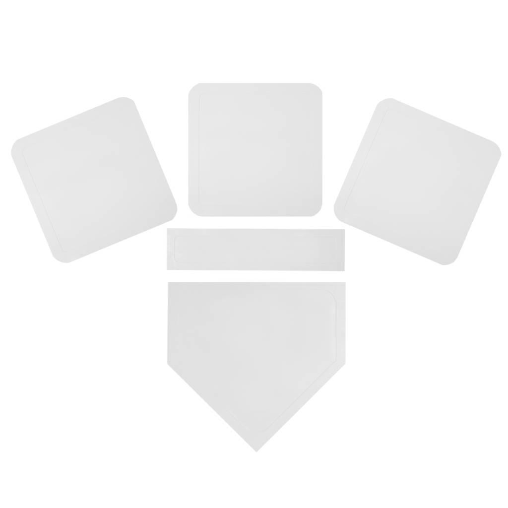 BBT-01 Set di basi baseball in caucciù, taglia unica, bianco