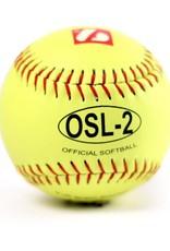 OSL-2 Palla da competizione softball, 12'', giallo, 12pz