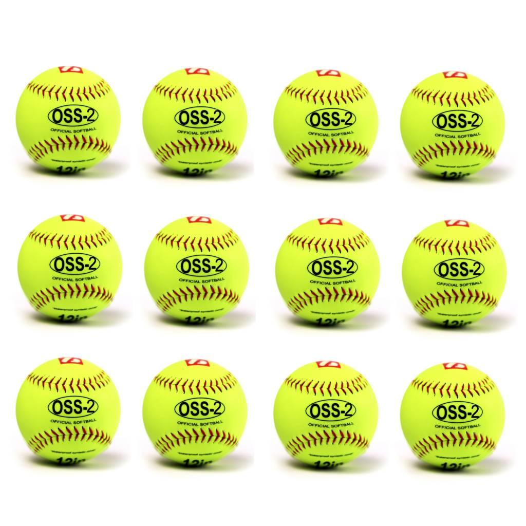 OSS-2 Palla da softball, principanti, 12'', yellow, 12 pz