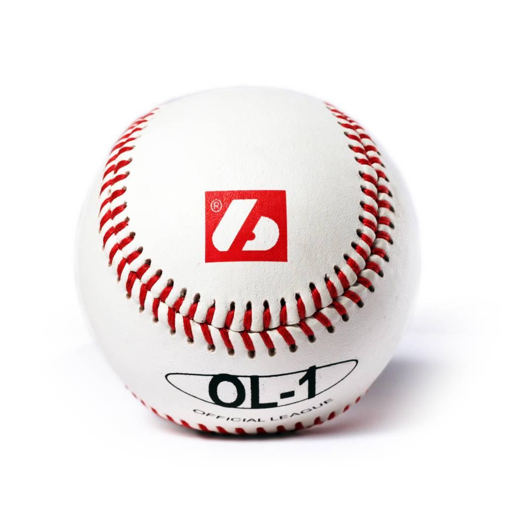 OL-1 Palle da baseball, competizione, 9'', bianco, 2 pz